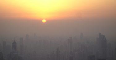 """""""Sonnenuntergang"""" in Shangha"""