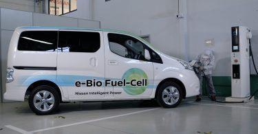 Nissan e-NV200 mit Bioethanol-Brennstoffzelle