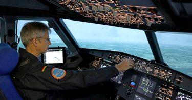 Landeanflug im Airbus-Simulator