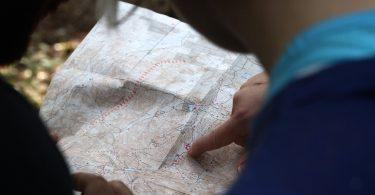 Navigation mit Karte