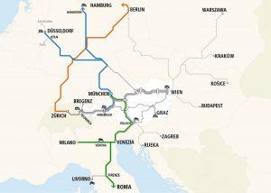 Erweiterungen im Nachtzug-Streckennetz