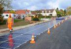 Solarstraße im Bau
