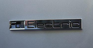 Elektroauto schild