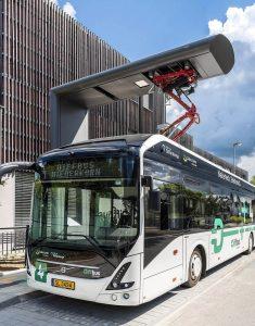 Opportunity Charging (Zwischenladung) eines Volvo 7900 E