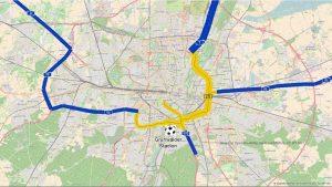Zunehmender Verkehr zum Sechziger-Stadion