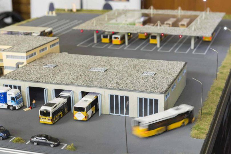 Modell Bus-Betriebshof