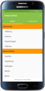 Green-Zones App