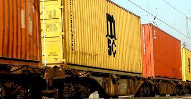 Gütertransport Containerzug Seidenstraße