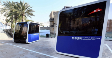 Next Future Transportation pods for Dubai