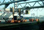 Automatische Containerbrücken, Hafen Rotterdam
