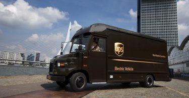 UPS-Elektrofahrzeug für die neue Smart Grid-Ladetechnik