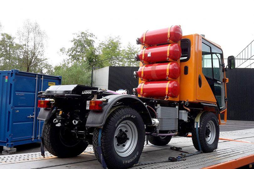 Kommunalfahrzeug mit Brennstoffzellen-Hybrid-Antrieb