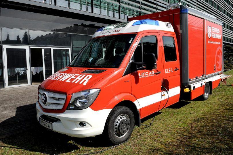 Feuerwehreinsatzfahrzeug mit Elektroantrieb