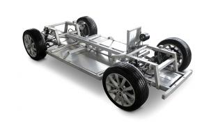 Chassis des Luka EV Elektro-Sportcoupé. ©_MW Motors