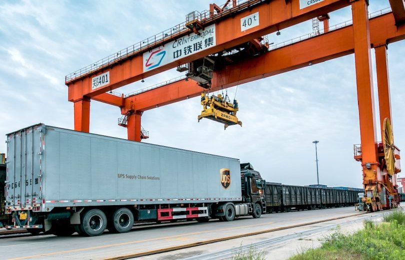 UPS Rail Service : Full Container Load Service zwischen China und Europa