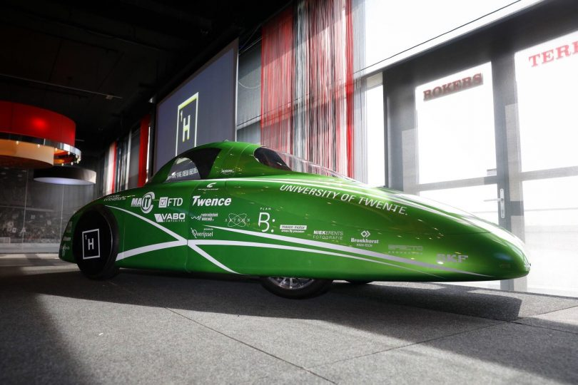 Twente students unveil new hydrogen car