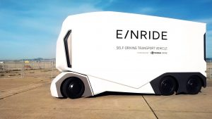 T-Pod Einride's all-electric autonomous truck.