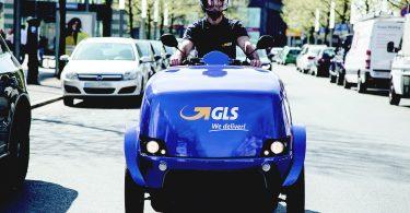 eScooter für GLS in Herne unterwegs