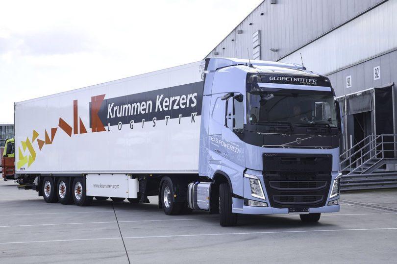 Krummen Kerzers hat 20 mit LNG betriebene Volvo-LKW angeschafft. Foto: Krummen Kerzers