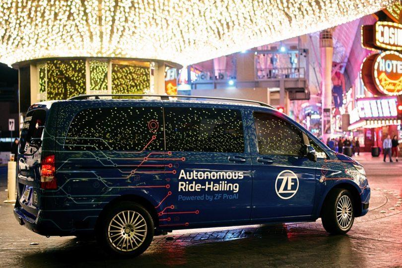 Autonomous Ride-Hailing mit ZF-Komponenten