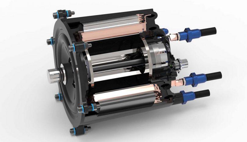 Direktgekühlter Elektromotor aus Kunststoff