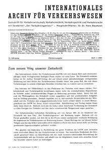 Internationales Archiv für Verkehrswesen 1/1960