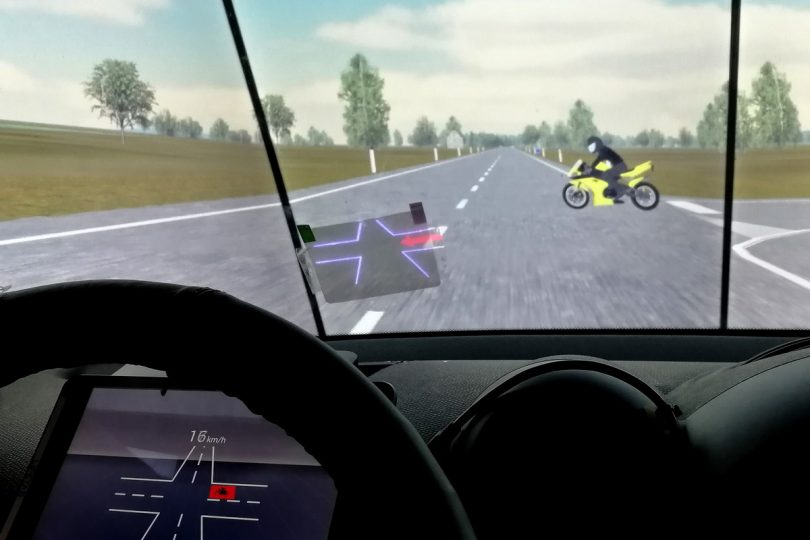 Fahrsimulator Motorrad TU Graz
