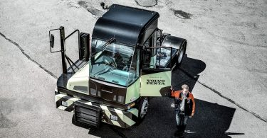 emission-free terminal tractor featuring a Volvo Penta electric driveline