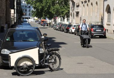 Geteilte E-Cargo-Bikes