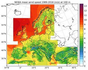 Neuer Windatlas für Europa