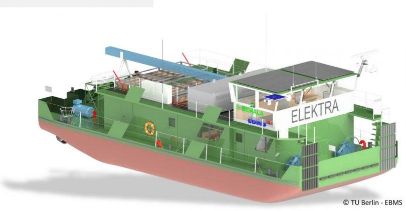 3D-Modell des Schubbootes ELEKTRA