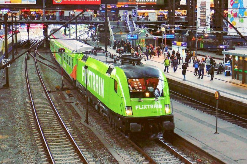 FlixTrain im Hamburger Hauptbahnhof