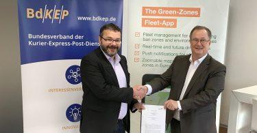 BdKEP kooperiert mit dem Umweltzonen-Portal Green-Zones