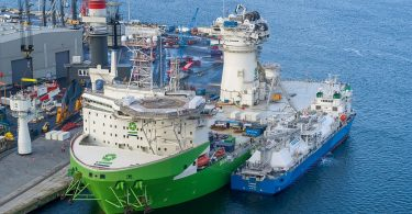 offshore installation vessel Orion fuelled for the first time with LNG