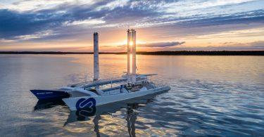 """""""Energy Observer"""" mit Toyota Brennstoffzellenantrieb."""