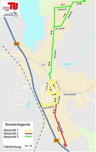 Streckenführung AutoNV