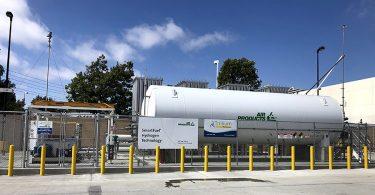 Hydrogen station in Santa Ana, California. © Trillium