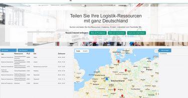 Internet-Pinnwand für Logistikdienste