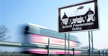 Touristic signage on German Autobahn