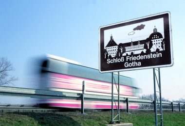 Touristic signage on German Autobahn