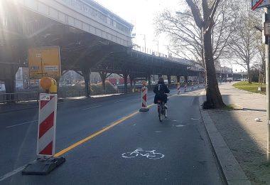 Pop-up-Radwege bringen mehr Sicherheitsgefühl