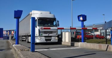 Bosch Secure Truck Parking spaces at the German-Danish border