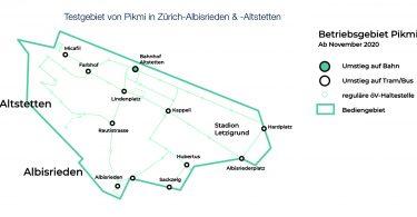 Pikmi: VBZ und ViaVan lancieren digitalen Rufbus in Zürich