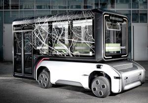 Prototyp des futuristischen Fahrzeugkonzepts U-Shift