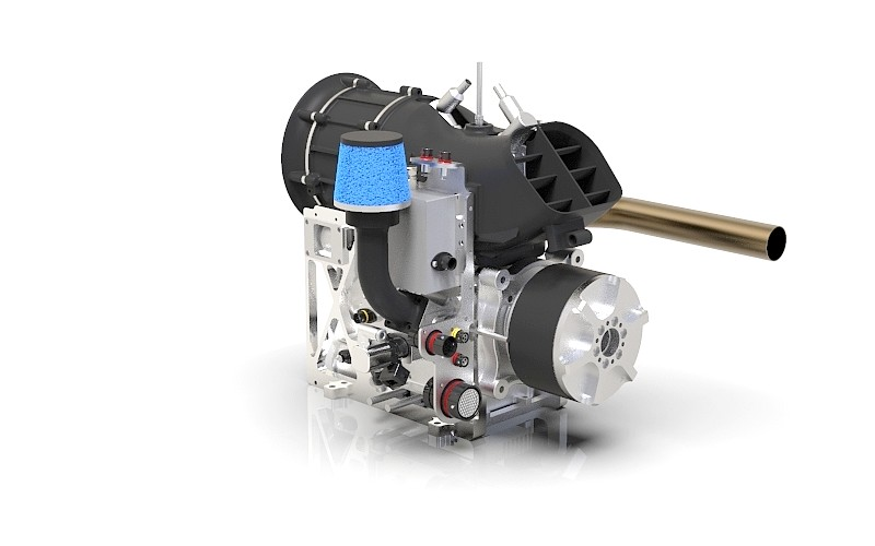 Sky Power presents hybrid for generator-only application