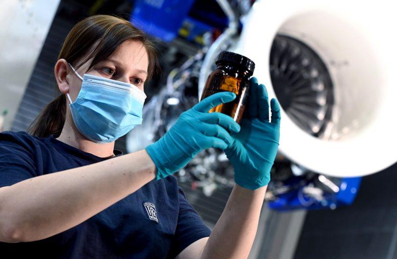 Rolls-Royce: Erste Tests mit 100 % nachhaltigem Flugkraftstoff