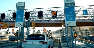 Pay-as-you-go-Mautsystem auf der A8 Athen-Patras