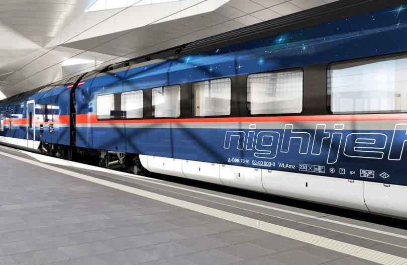 Neue Nightjet-Garnituren ab 2022 im Einsatz