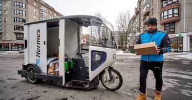 ONO-E-Cargobike bei Hermes in Berlin