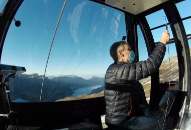 On the trail of Sars-CoV-2 in cable cars